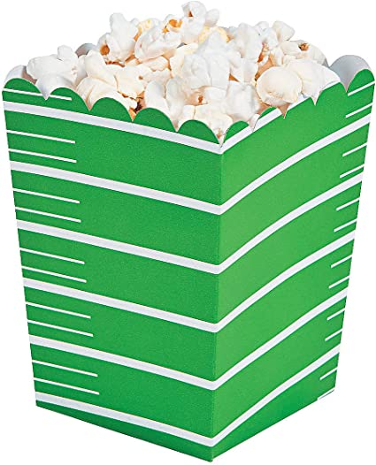 Football Season Party Appetizer Popcorn Boxes Black and White Touch Down 20 pack
