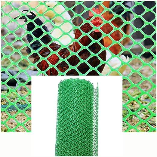 XXN Red de Plástico,Estera Verde Red de Plástico Duro para Aves de Corral Pollo Mascota Estanque Ave Animal Jardín Césped Árbol Planta Cultivo Rollo de Valla de Redes Malla Verde Red Prismática: