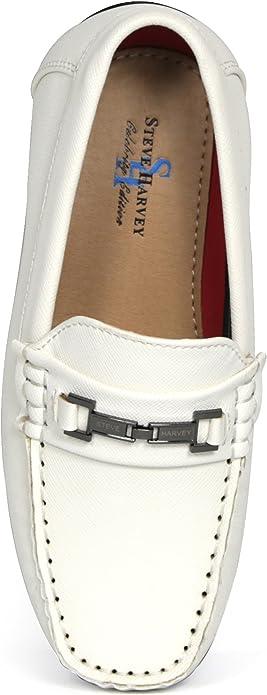 Steve Harvey Colton Boys Designer Fashion Sharp /& Adorable Vegan Loafers Drivers