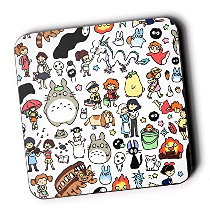 bbcdd356e Studio Ghibli Doodle Pattern High Quality Drinks Coaster Totoro No Face  Ponyo: Amazon.co.uk: Kitchen & Home