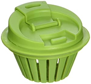 Jarware 82622 Fruit Infusion Lid for Regular Mouth Mason Jars, Green