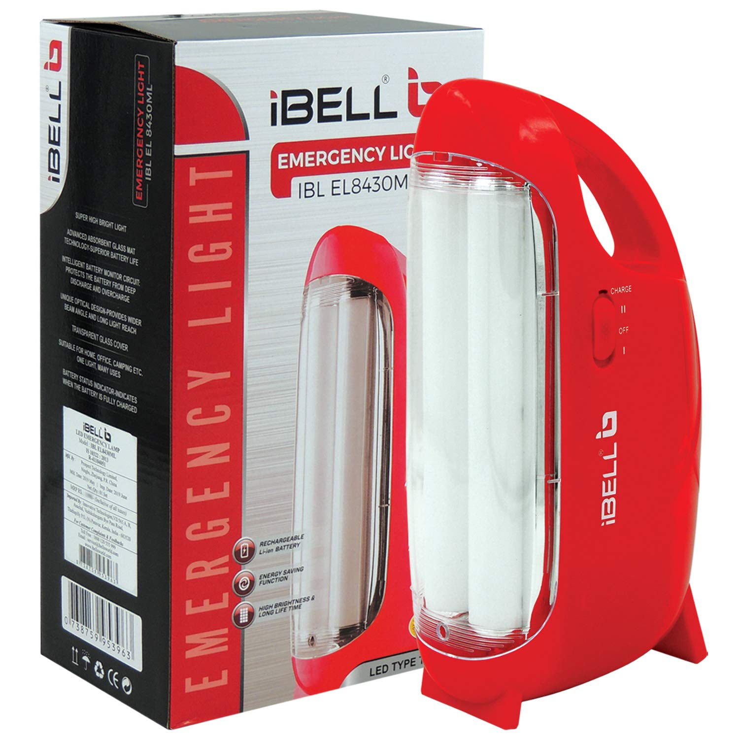 Best Emergency Lights for Homes iBELL 8430 Rechargeable Emergency Light