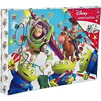 Sambro DTS-6722 Adventskalender Disney Pixar Toy Story mit Schreibwaren, kleinen Spielzeugen und Stickern, für Kinder ab 3 Jahre, bunt