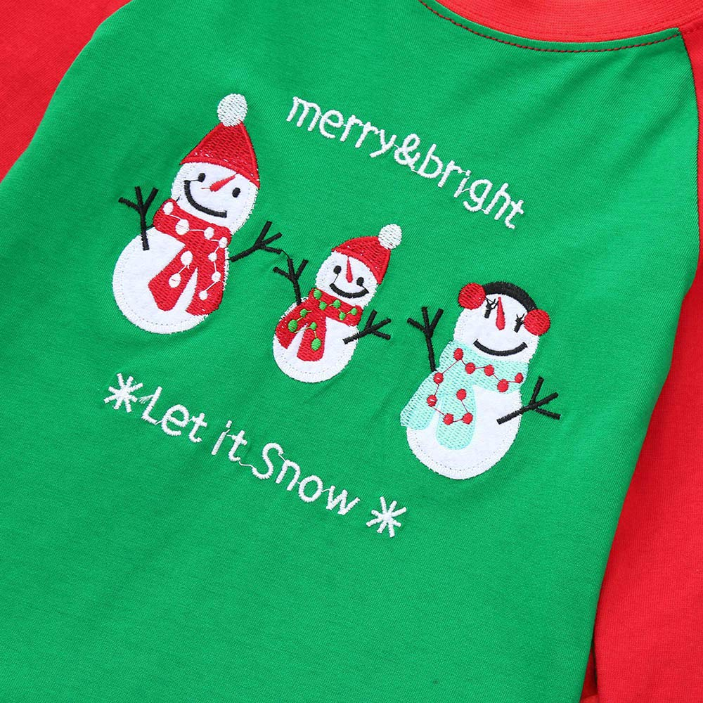 Dinlong Baby Christmas Clothes Long Sleeve Snowman Striped Print Top Pant Outfits