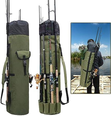 Fishing Rod Pole Reel Tackle Accessories Storage Shoulder Bag Carry Organizer k