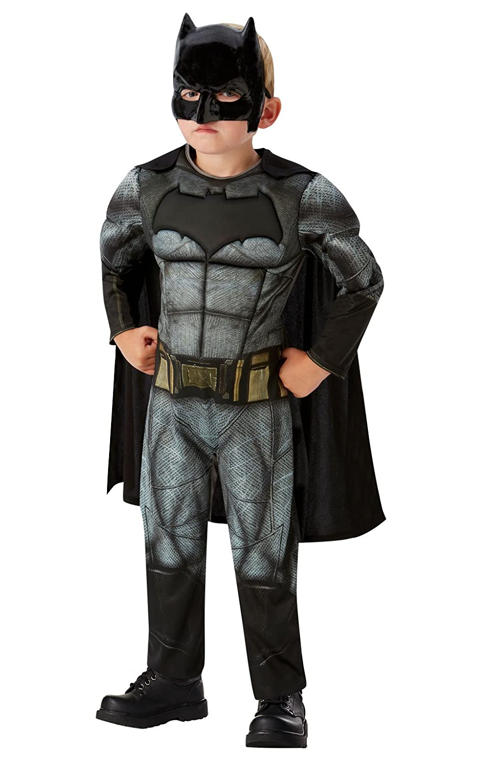 DC - Justice League Movie Disfraz Batman Deluxe Infantil, S (Rubies Spain 640809-S): Amazon.es: Juguetes y juegos