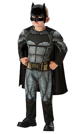 531f3e9bbc4 DC Comics - Disfraz de Batman Deluxe para niños, Justice League, 3-4 años  (Rubies 640809-S): Amazon.es: Juguetes y juegos