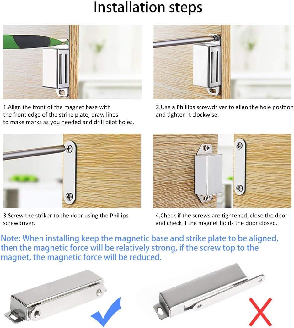 Onarway - Cierre magnético para puerta de baño, cocina, puerta corredera, ventana, armario: Amazon.es: Bricolaje y herramientas