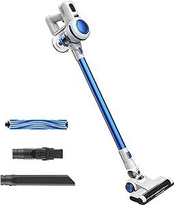 Orfeld Cordless Vacuum, Stick Vacuum Cleaner 2 in 1, 17 kPa Powerful Suction, Lightweight Handheld Vacuum with Detachable Battery, LED Brush for Deep Clean Pet Hair Carpet Hard Floor