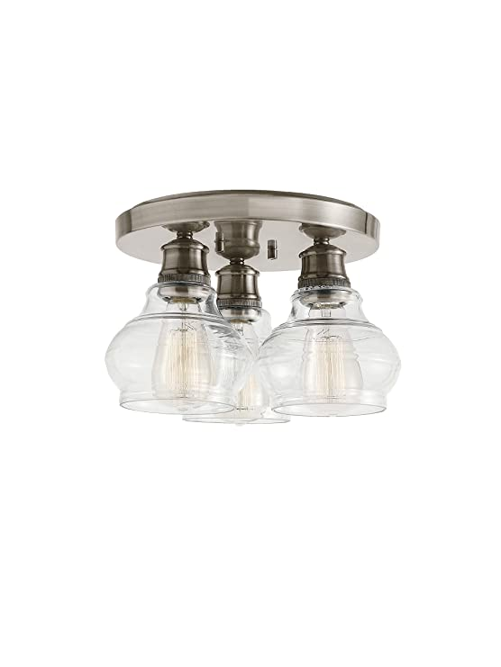 8faa3516478 Kichler 48104ORZ Schoolhouse 3-Light Flush Mount