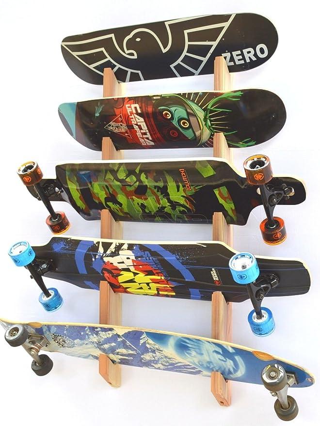Pro tabla estante de montaje en rack - de pared para 5 tablas de snowboard: Amazon.es: Deportes y aire libre
