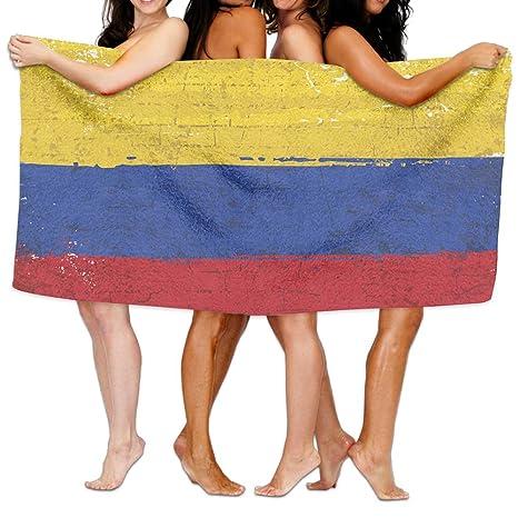 Colombia Bandera pintada a mano toallas de baño de toallas de baño, playa mano turco