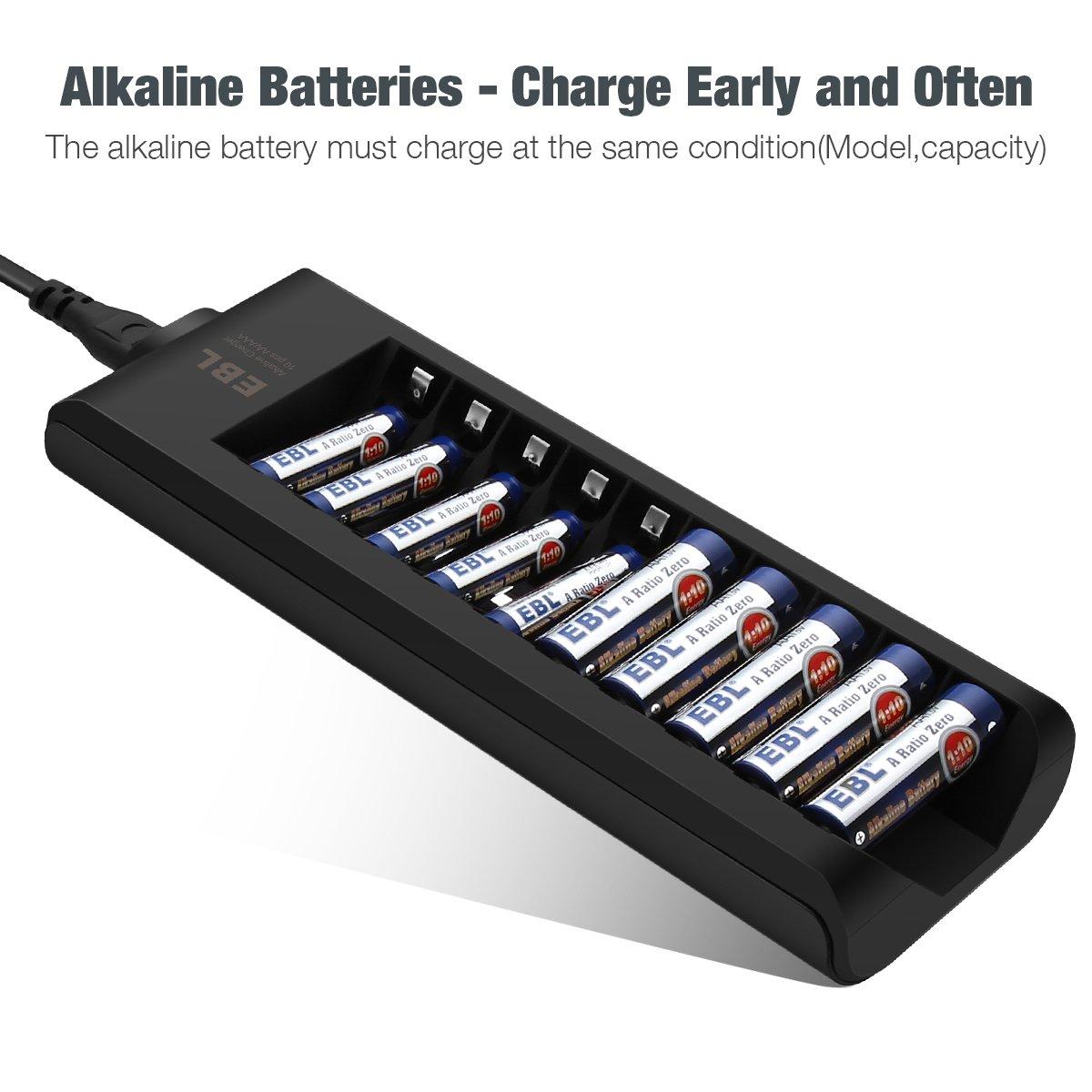 Amazon.com: EBL - Cargador de pilas alcalinas AA AAA ...
