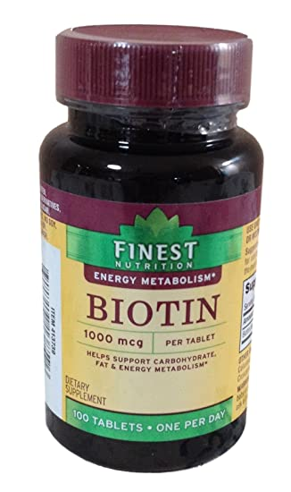 Amazon.com: Finest Nutrición Biotin 1000 Mcg, tabletas 100 ...