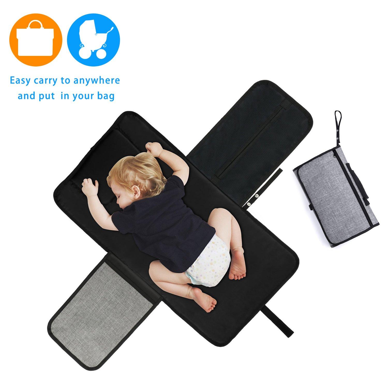 HabiKox Portable Baby Changing Pad Nappy Waterproof Changing Mat Bag for Stroller Travel PAD-WLJ9002/WXL