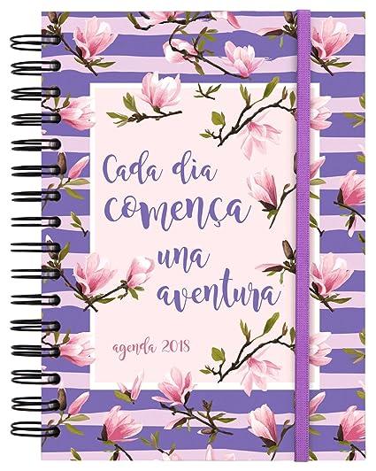 Finocam Doble Espiral You - Agenda 2018, día página, diseño Aventura, catalán, 155 x 215 mm, 70 g/m²