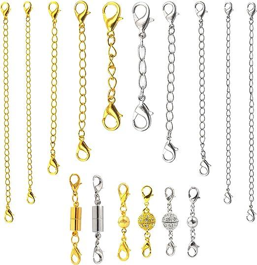 5pcs Magnetische Karabinerverschlüsse für Halskette Armband Schmuck Silber