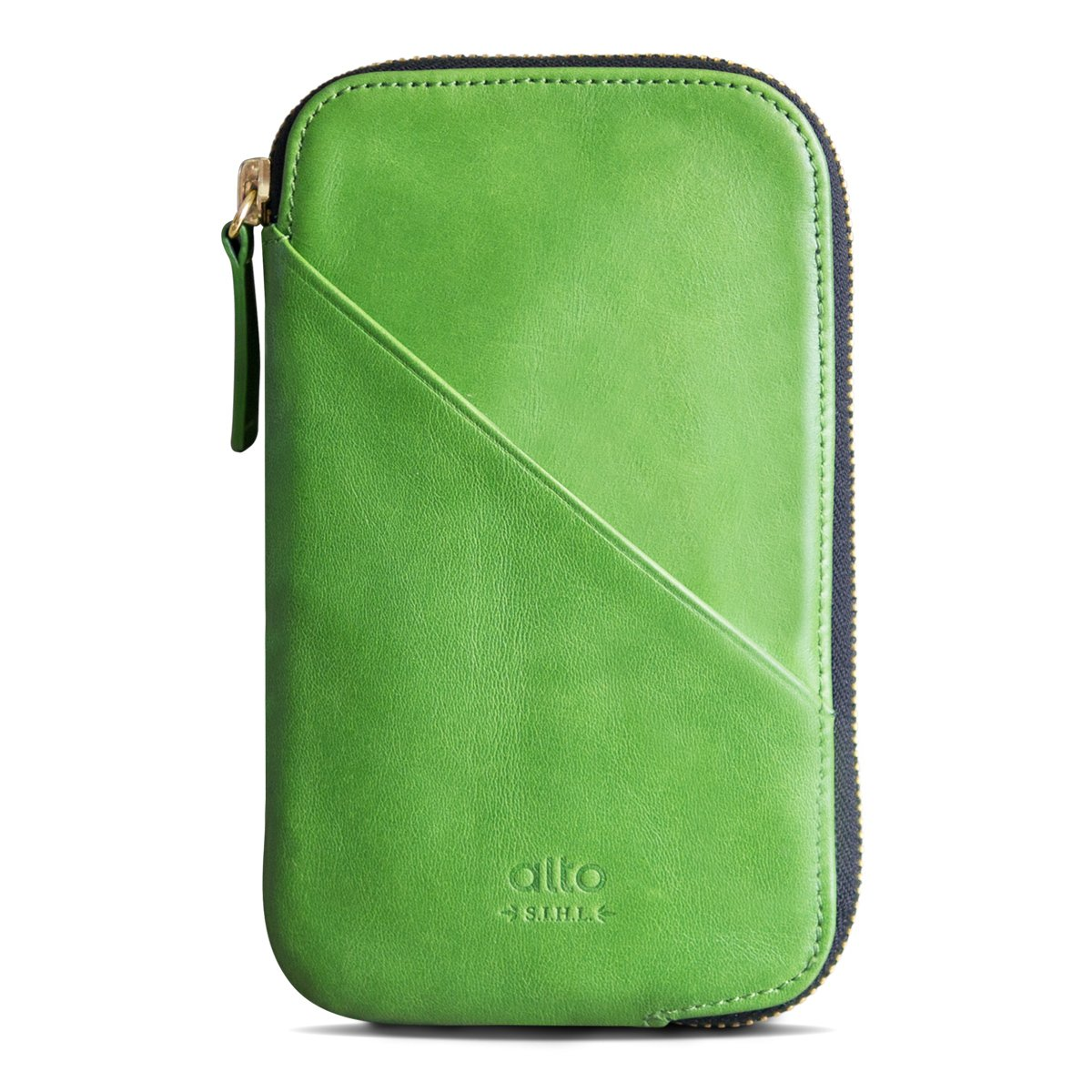 alto Handmade Premium Italian Leather for Apple iPhone 7 / iPhone 7 Plus / iPhone 8 / iPhone 8 Plus / iPhone X Travel Phone Wallet (Lime) by Alto