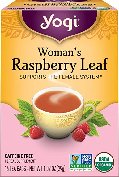 Yogi Herbal Tea, Womans Raspberry Leaf, 16 Tea Bags (Pack of 6 ...