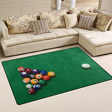 Amazon Com Wozo American Billiards Pool Green Table Area Rug Rugs