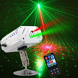 Party Lights, DJ Disco Stage Lights Sbolight Led Projector Karaoke Strobe Perform for Stage Lighting with Remote Control for Dancing Thanksgiving KTV Birthday