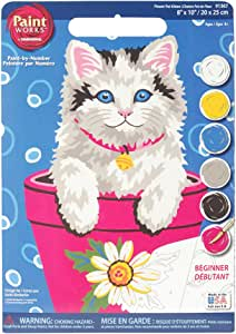 DIMENSIONS Paintsworks Juego de Mesa para Aprender a Pintar macetas de Flores y Gatitos: Amazon.es: Hogar