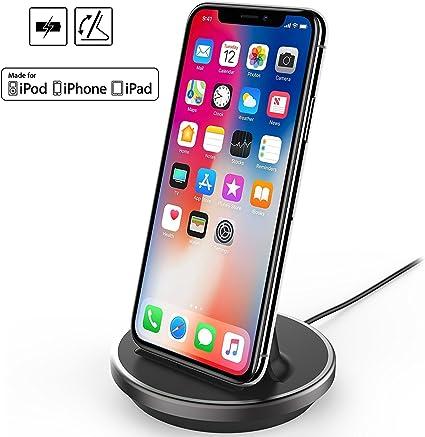 Amazon.com: Funda iPhone 8 plus Base de carga, NXET [Apple ...