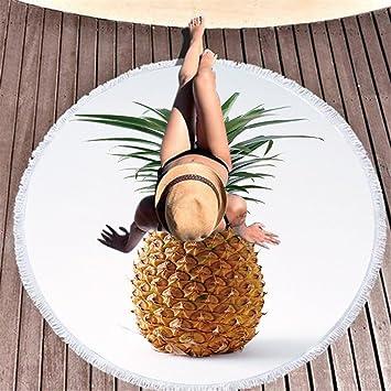 Stillshine 150CM Toalla de Playa Redonda Mandala/Tapiz Boho Gypsy de Yoga Mantel/Toalla