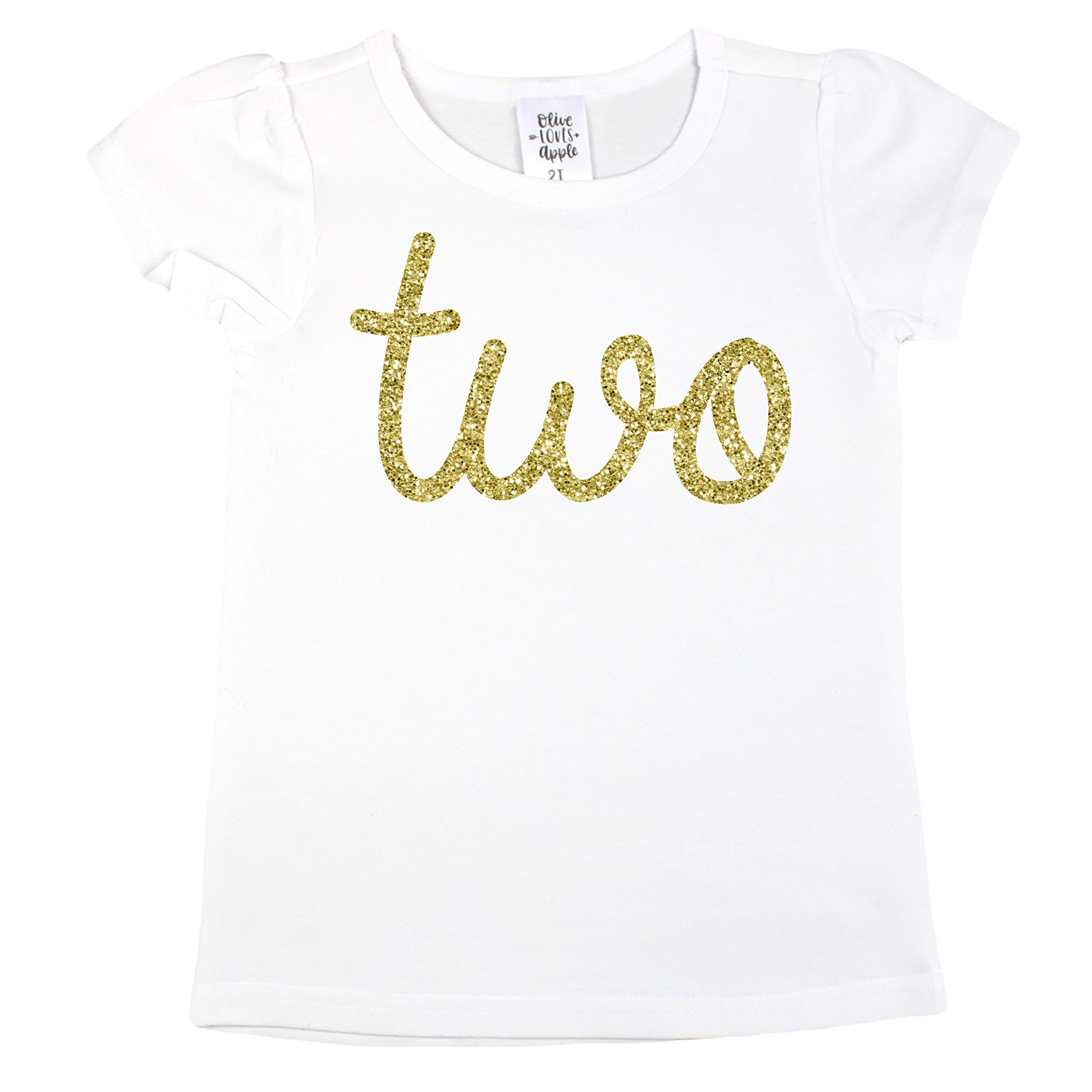 Gold Two Girls 2nd Birthday Shirt 3T Gold