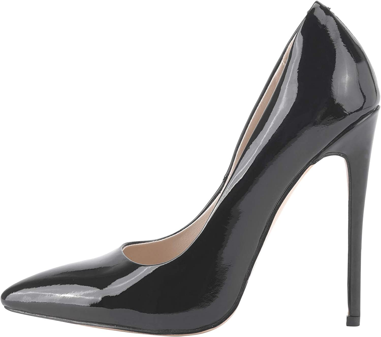 Tanisha - Zapatos de Vestir de Charol para Mujer Negro Negro