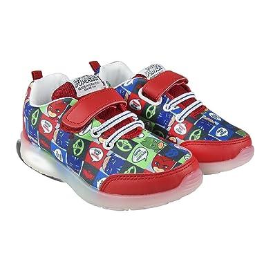 PJ Masks Pyjamahelden 2300003098 Sneaker, Mehrfarbig, Flashing Schuhe, Catboy, Eulette, Gecko