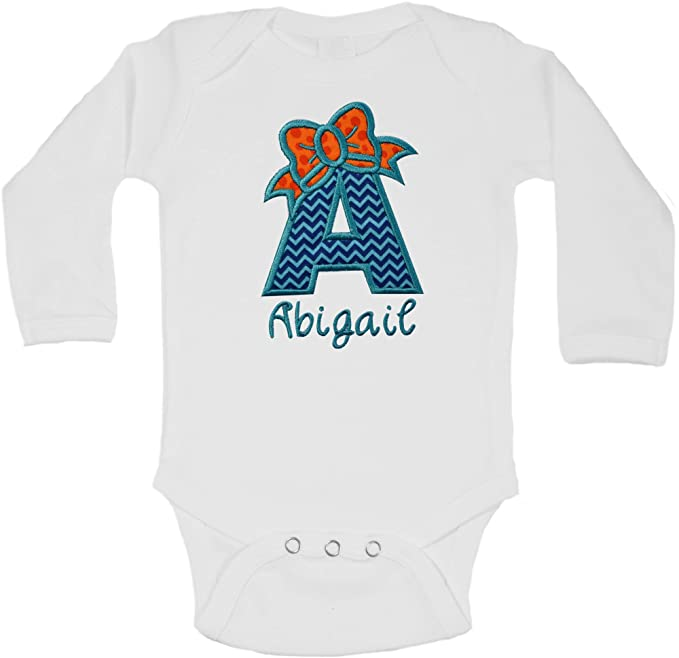 Personalized Name Cute Baby Girl Clothes Onesies with Hat Shower Gift Beanie