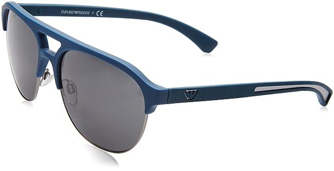 fa8fb316c3 Emporio Armani 0EA4077, Gafas de Sol Unisex Adulto, Azul (553887), 58:  Amazon.es: Ropa y accesorios