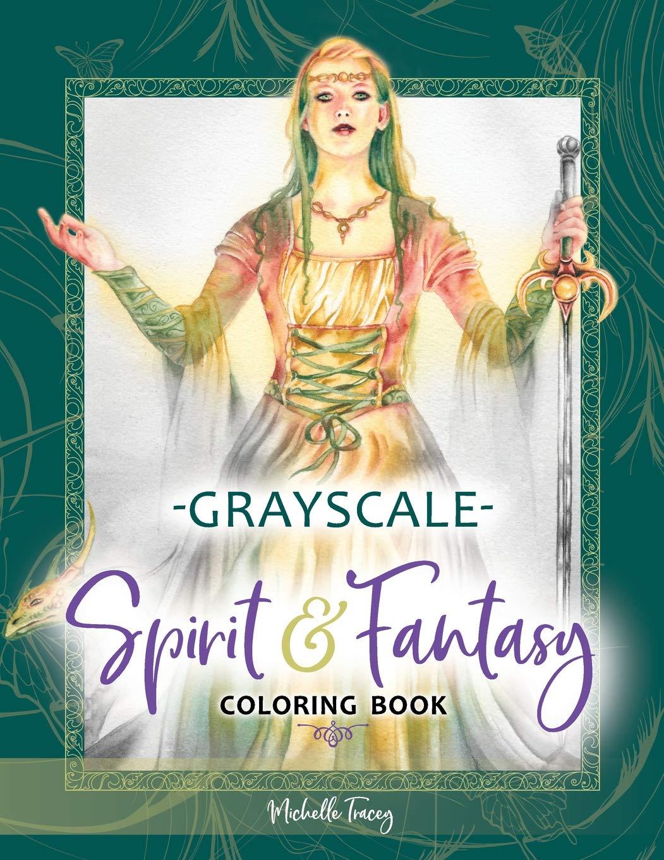 Download Spirit & Fantasy Coloring Book: Grayscale Edition ebook