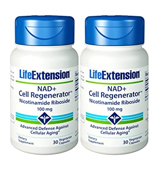Life Extension Nad+ Cell Regenerator Nicotinamide Riboside 30 X 2 by Life Extension: Amazon.es: Salud y cuidado personal