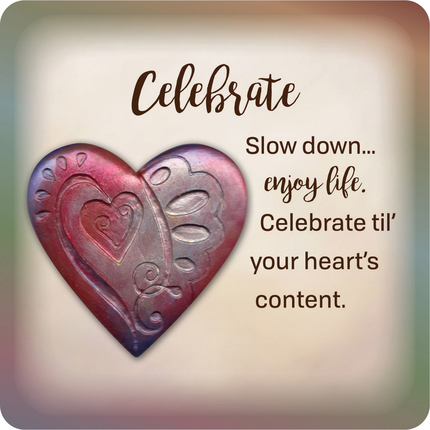Celebrate Creative Brands B2182 Faithworks from The Heart Magnetic Plaque