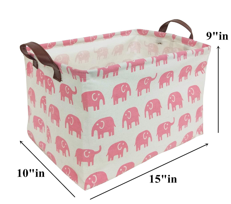 Gift Baskets HIYAGON Rectangular Storage Box Basket for Baby Paper Plane Fabric Collapsible Storage Bin for Organizing Toys,Nursery Basket,Clothing,Books Kids or Pets