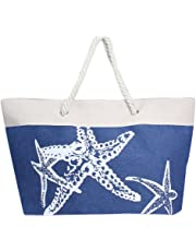by you Women Summer Large Beach Tote Bag Travel Tote Bag Zipper Closure Shoulder Bag