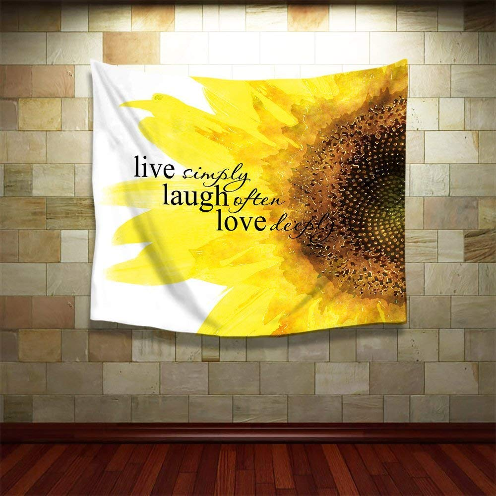 Amazon.com: Yaoni Watercolor Sunflower Art with Live Laugh Love ...