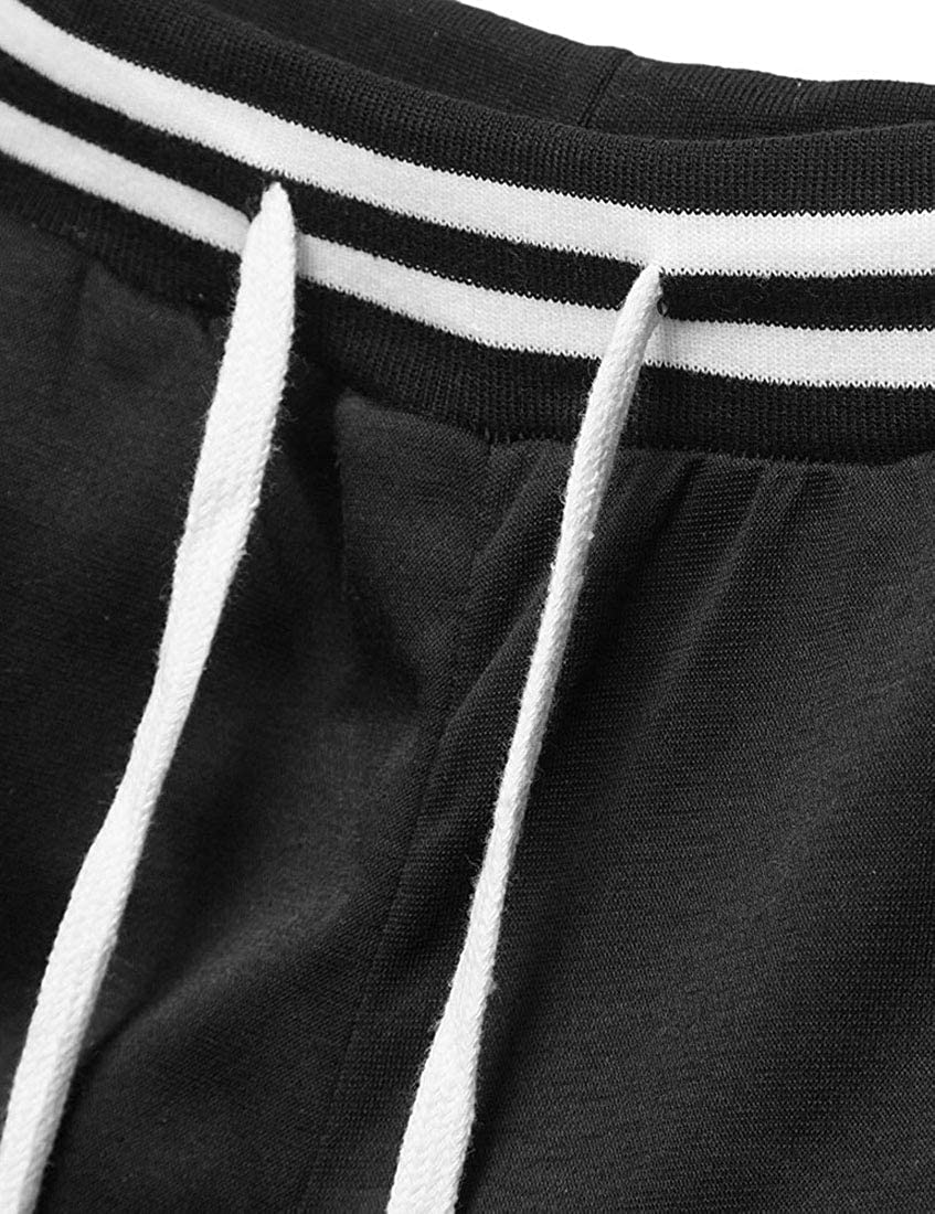 YaYu Mens Joggers Outdoor Casual Sweatpants Contrast Color Long Pants