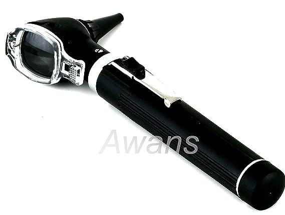 Otoscopio profesional (Tamaño pequeño,), de color negro