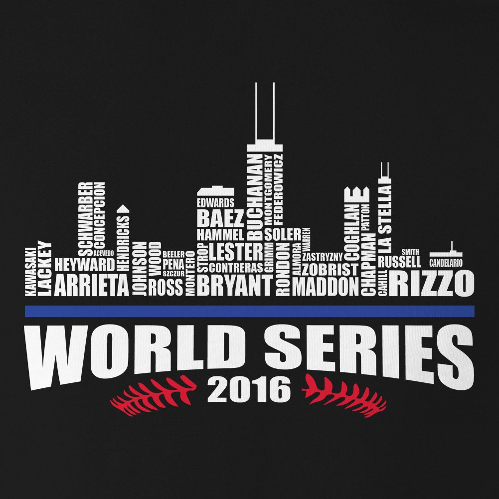 Chicago Baseball 2016 World Champions City Landscape Mens Tank Top