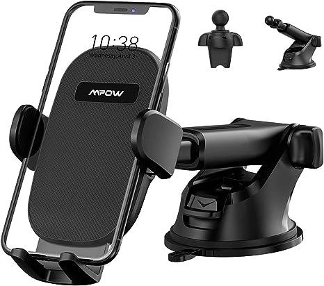Mpow Handyhalterung Fürs Auto 3 In 1 Für Armaturenbrett Windschutzscheibe Lüftungsschlitze Universelle Smartphone Halterung Für Iphone 11 Pro Xs Max Xr 8 Galaxy Elektronik
