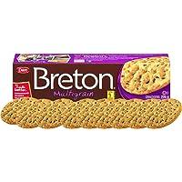 Dare Breton Crackers, Multigrain, 7.97 oz Box – Crispy Whole Wheat Crackers with 15 Grains & Seed, No Artificial Colors…