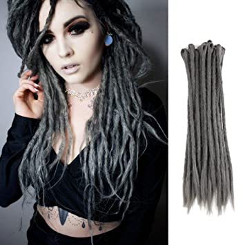 Amazoncom Dsoar 20inch Dreadlock Extensions 12 Strands Synthetic