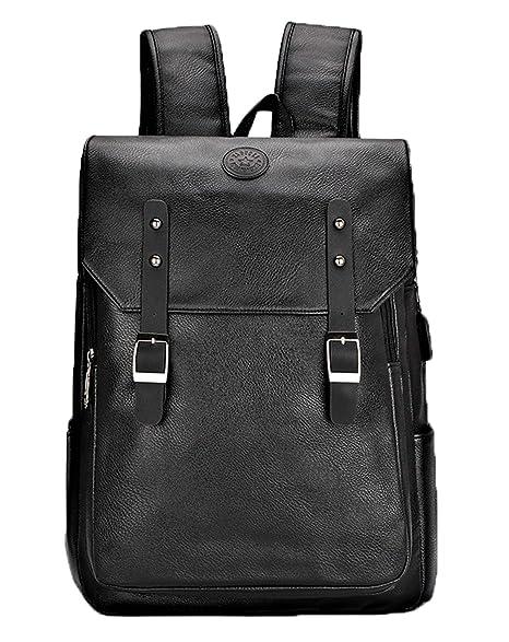 b478fb6b9a Juchen Zaino Vintage Durevole Zainetto Fashion Ragazzi Zaini Scuola  Portatile Uomo Casual Backpack Pelle Unisex Borse