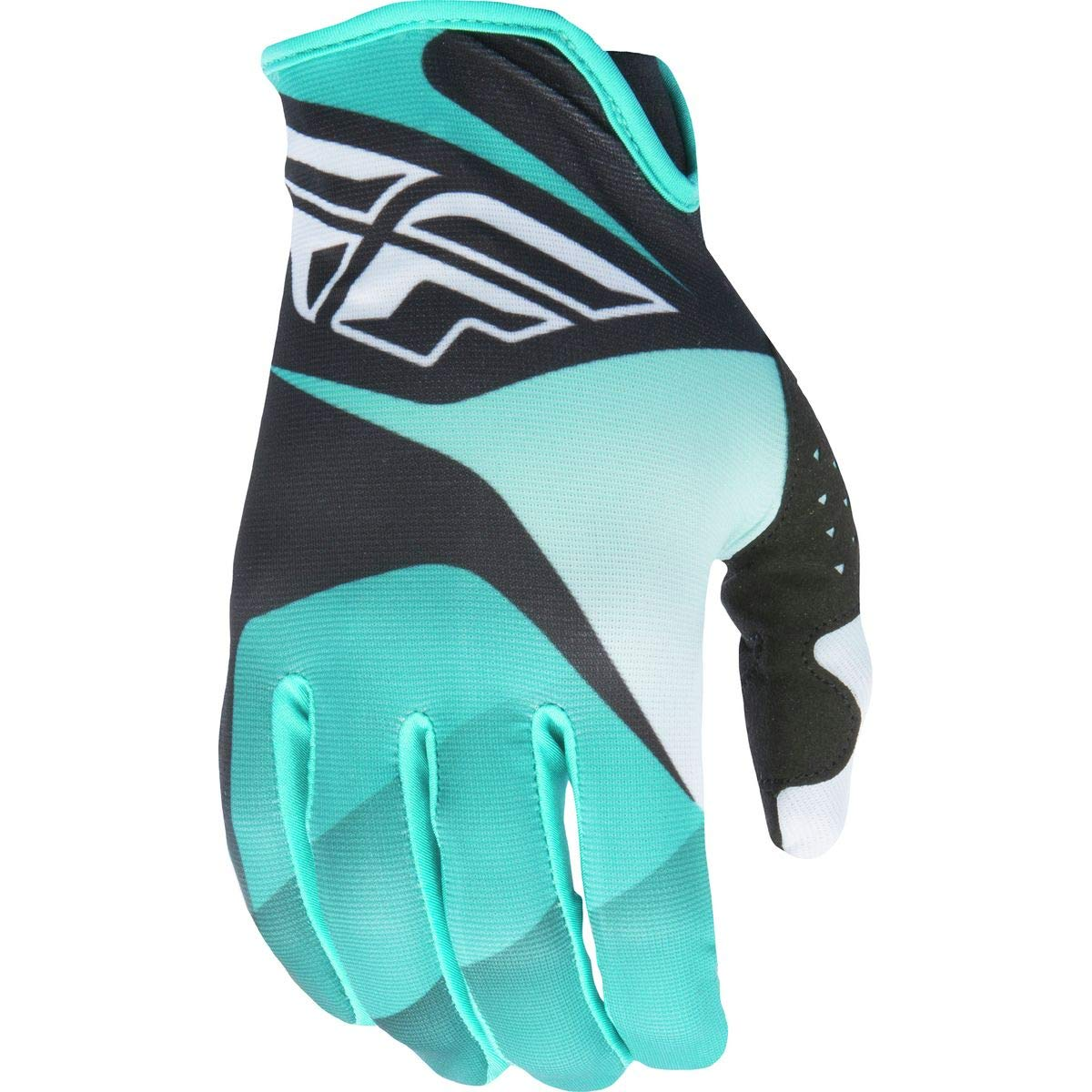 Fly Racing Unisex-Adult Lite Gloves Black//White//Teal XXX-Large 370-01013
