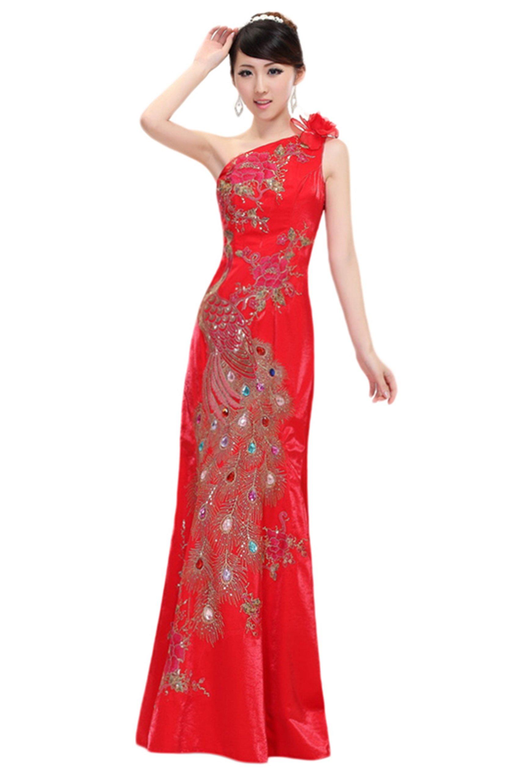 New women's fashion wedding dress - shoulder wedding toast cheongsam (XL)