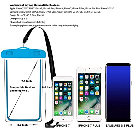 universal-waterproof caso, ibarbe ipx8-waterproof-phone-pouch dry ...