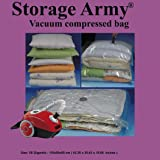 Storage Army [Pack of 5 Gigantic] Storage Bags Sealed Compressed Vacuum Bag Save Space Home Organizer and Travel Storage Saver Comforter Bags protection against Water | Odor | Mildew | Dust | Insects